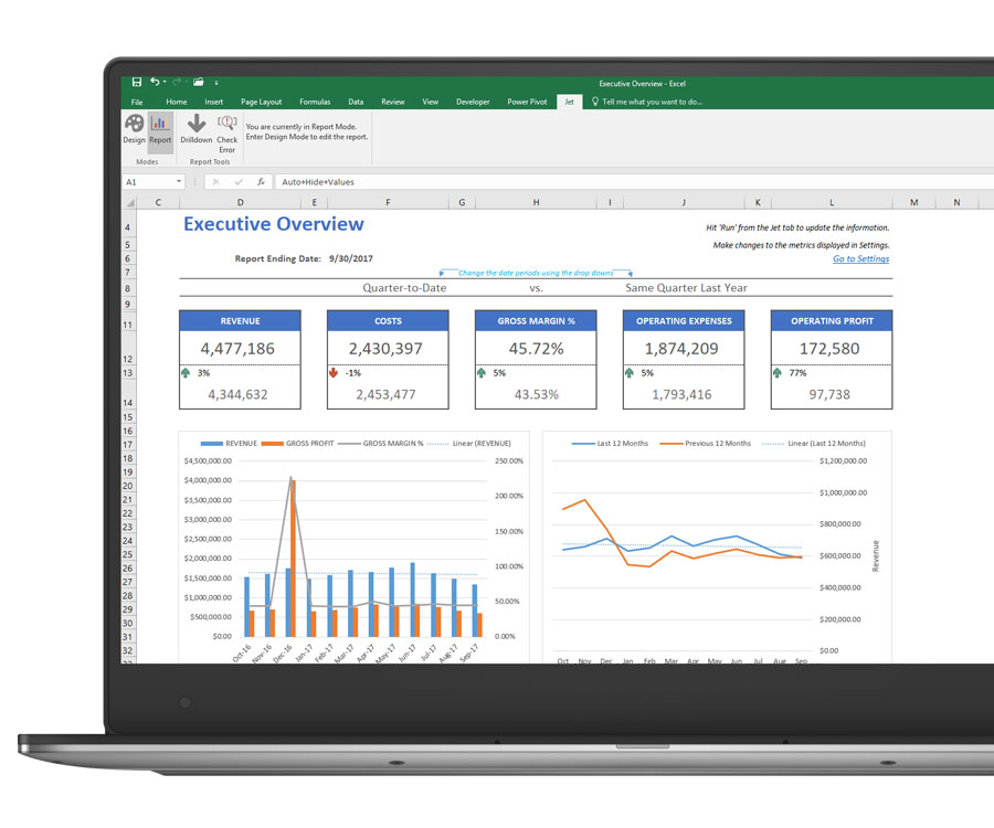 Jet Reports Financials - Microsoft Dynamics 365 Reports in Excel