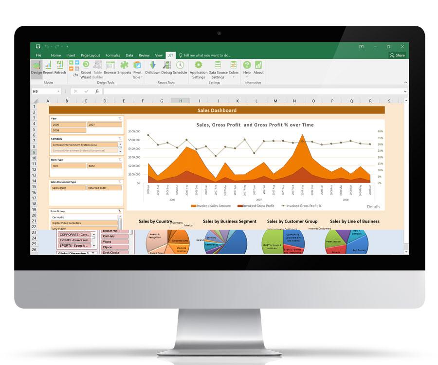 Microsoft Dynamics Business Intelligence - Jet Enterprise