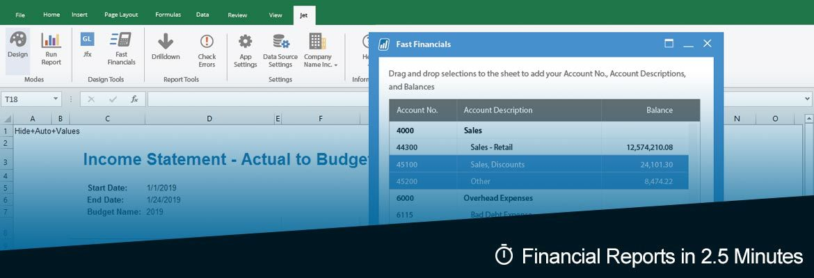 Microsoft Dynamics Financial Reports in Less than 25 Minutes - Jet