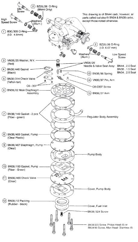 mikuni fuel pump diagram