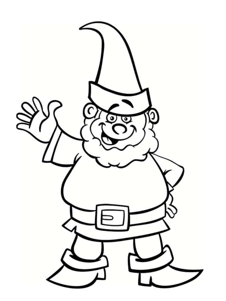√ Coloriage nain et gnome : dessins imprimer