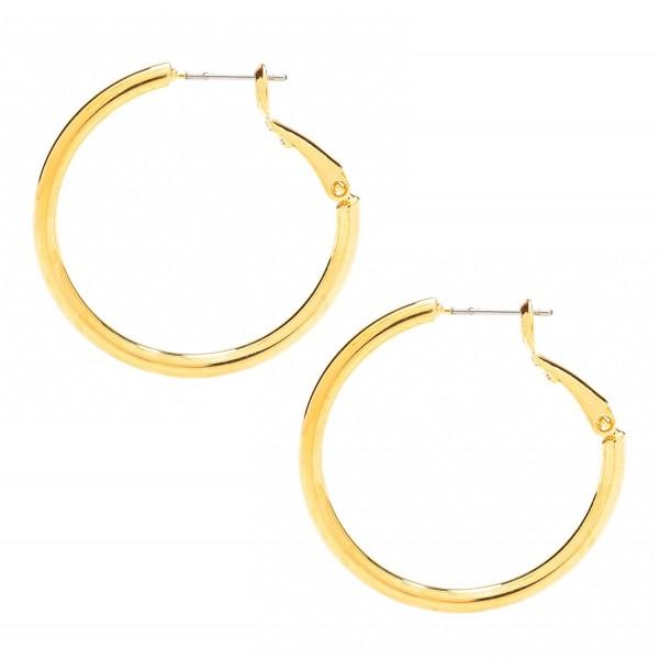 Earrings Premium Jewelry Hypoallergenic yellow gold plated bronze