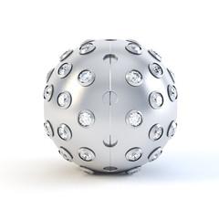 White Brushed sphere trinket