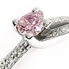 Pink Diamond Cross over Ring