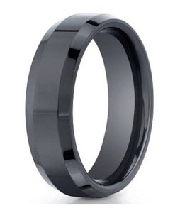 black designer wedding ring