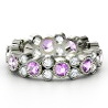 platinum gemstone eternity ring