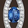 sapphire platinum pendant