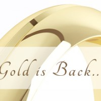 yellow gold wedding ring is back