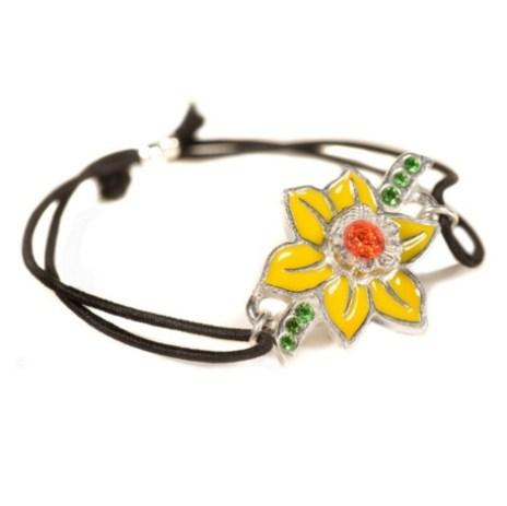 Daffodil Bracelet with Swarovski crystal elements