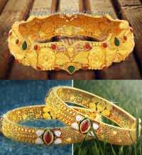 Traditional Gold Bangles - Jewellery Designs