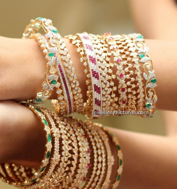 Diamond Bangles Latest Indian Jewelry