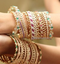 Diamond Bangles Latest Indian Jewelry
