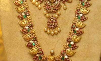Lakshmi Haram And Mango Mini Haram Jewellery Designs