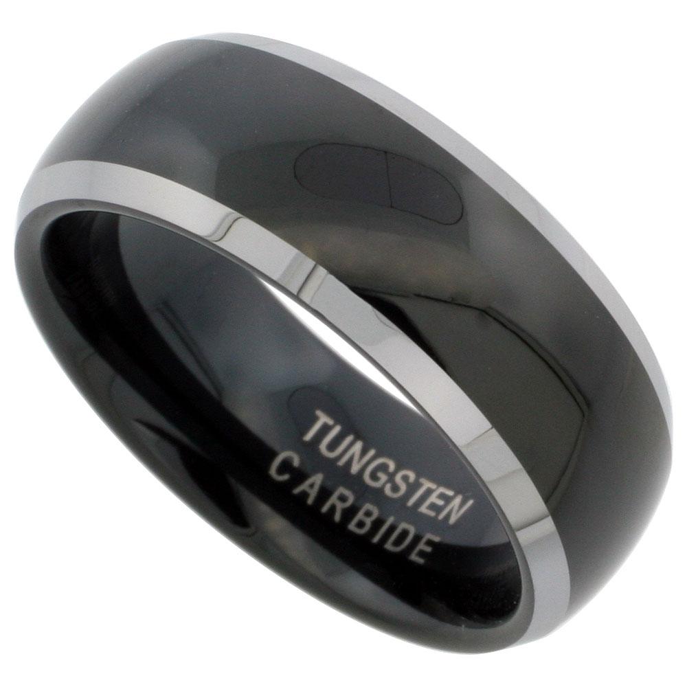weddingbandspage6 tungsten carbide wedding band black finish tungsten carbide wedding ring