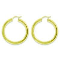 Sterling Silver and Gold Plated Hoop Tube Earrings - 8.2 ...