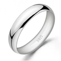 Simple and Elegant 925 Sterling Silver Men/Women's Promise ...