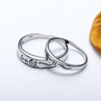Platinum Plated 925 Sterling Sivler With Synthetic Diamond ...