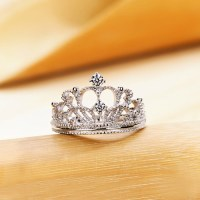 Exquisite Princess Crown Cubic Zirconia 925 Sterling ...