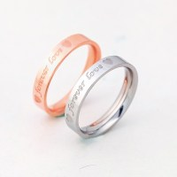 18K Rose Gold Korean Couple Rings - Couple Rings