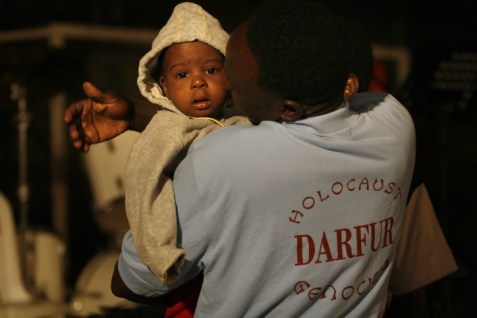 African Refugees from Darfur and Sudan attend a Passover dinner in Tel Aviv