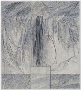 """Akedah #39 (2008-2009) Mixed media on paper 9"""" x 8"""" by Robert Kirschbaum Courtesy the artist"""