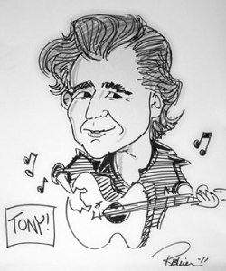 A caricature of Anthony Soriano by Rick Bleier, an artist who regularly does portraits of Atria Kew Gardens residents.