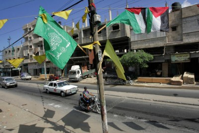 In Gaza, the flags of Hamas and the Ramallah-based, Fatah-led Palestinian Authority both fly.