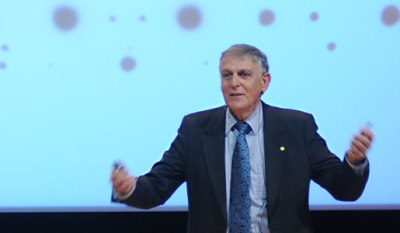 Dan Shechtman delivering Nobel Lecture in Stockholm