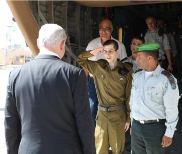 IDF soldier Gilad Shalit being returned to Israel from Hamas captivity in October 2011.