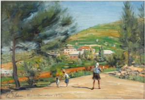 Kibbutz Kiryat Anavim (1932) oil on canvas by Ludwig Blum.Courtesy Museum of Biblical Art