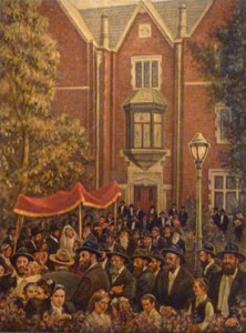 770 Wedding, (40 x 30) oil on canvas by Venyamin Zaslavsky. Courtesy Chassidic Art Institute