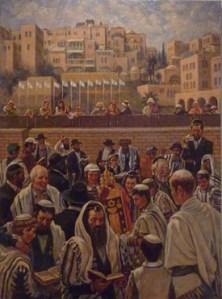Bar Mitzvah Video, (40 x 30) oil on canvas by Venyamin Zaslavsky. Courtesy Chassidic Art Institute