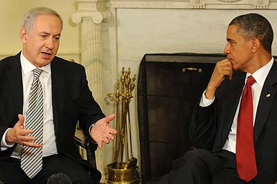 President Obama and Prime Minister Netanyahu in the Oval Office.