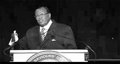 Louis Farrakhan delivered a fiery speech Sunday