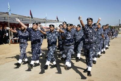 Hamas police officersin Gaza