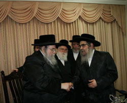 Belzer and Satmar Rebbes meet in Jerusalem, Feb. 15.