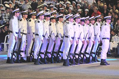 The graduating class of the IDF Naval Officer course.