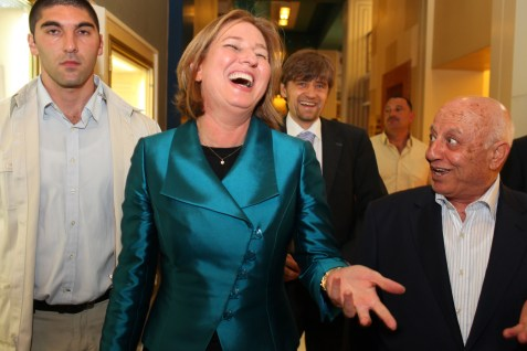 Tzipi Livni, Israel's de facto 'peace process minister,' with former PA negotiator Ahmed Qureia in July 2010