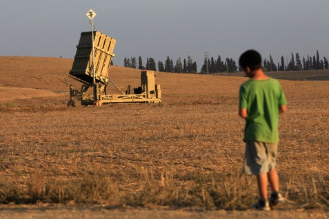 Iron Dome rocket shield system