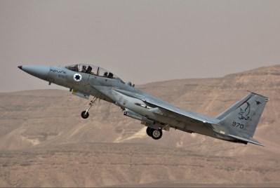 Israeli F-16 fighter jet.