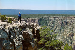 Dov Gilor at the Grand Canyon