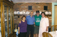 Barbara and Dov Gilor with Hedy and Don Jacobson in Flagstaff, Az