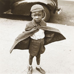 Butterfly Boy (1949) Gelatin silver print by Jerome Liebling. Courtesy The Jewish Museum