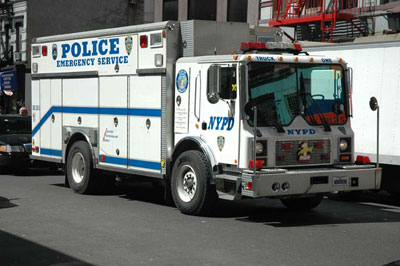 NYPD emergency vehicle. (illustrative)
