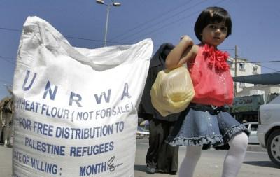 UNRWA food aid