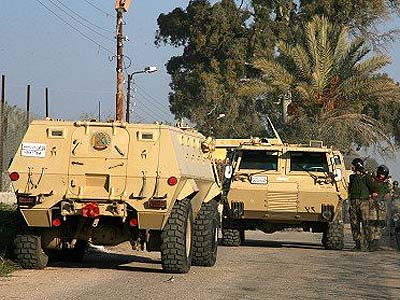 Egyptian forces are moving into the Sinai.