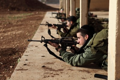 IDF Orthodox soldiers training for battle