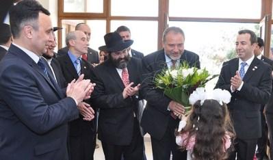 Israeli Foreign Minister Avigdor Lieberman in Azerbaijan - Taken by Rena Greenberg/Lubavitch.com