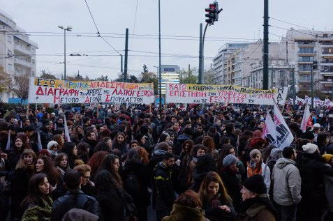 Thousands of Greeks protest in Athens against new austerity reforms