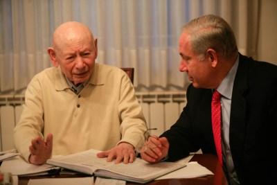 PM Binyamin Netanyahu with his father Benzion